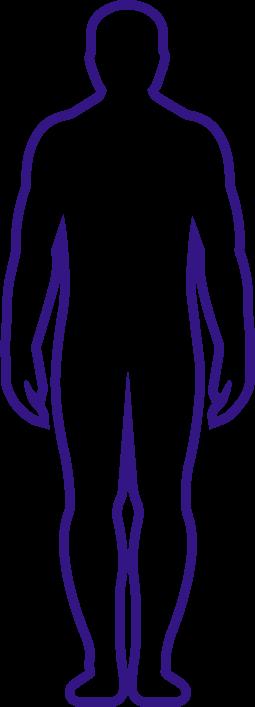 body outline purple